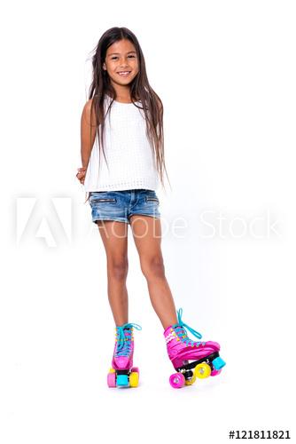 fille en roller