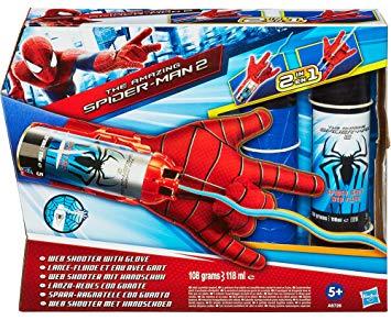 gant spiderman lance toile