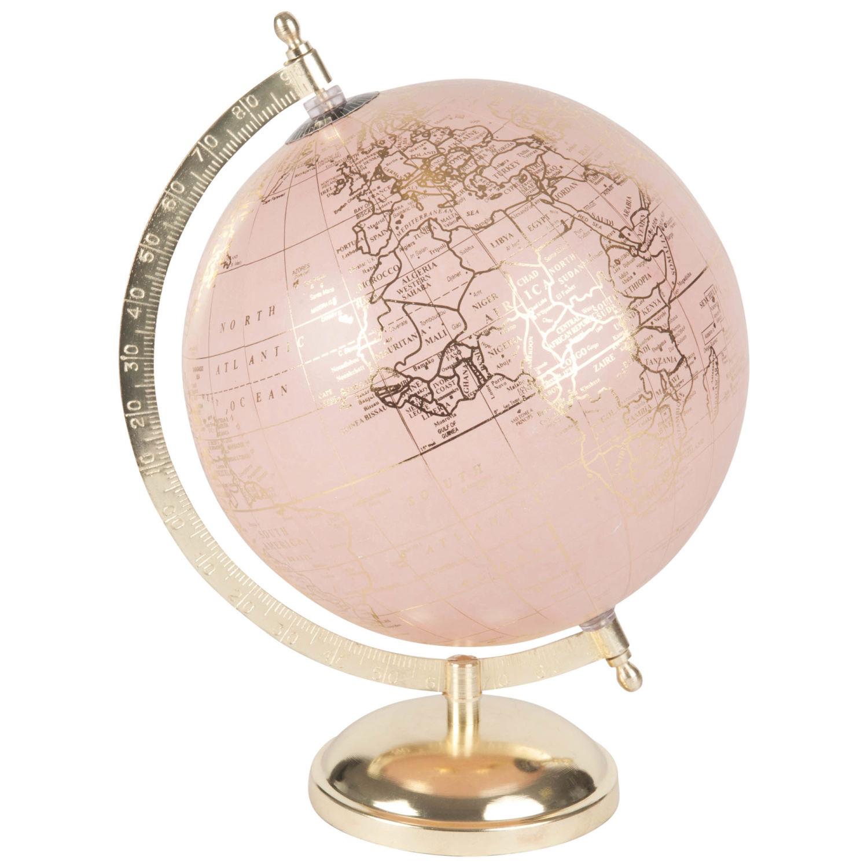 globe terrestre rose
