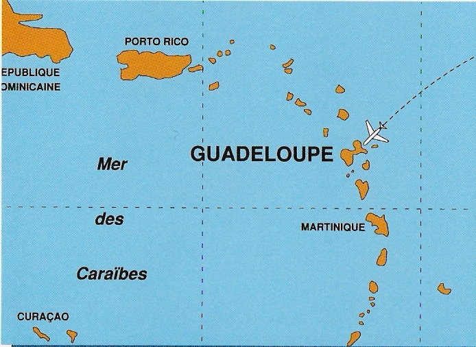 guadeloupe heure d avion