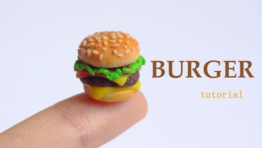 hamburger pate fimo