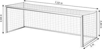 hauteur cage de foot