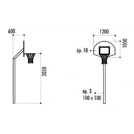 hauteur du panier de basket
