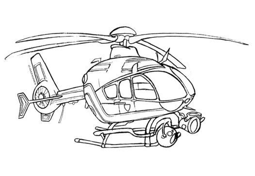 hélicoptère coloriage