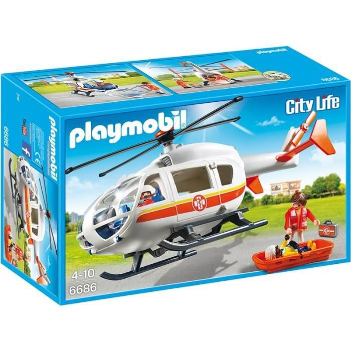 helicoptere medical playmobil