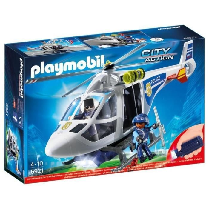 helicoptere police playmobil