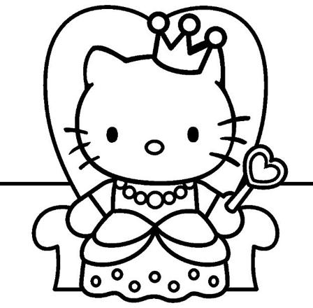 hello kitty à dessiner