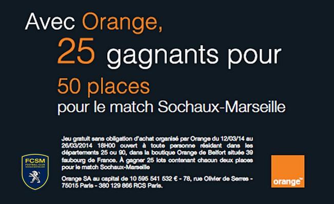 jeu concours orange