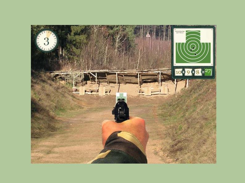 jeu de tir sur cible au pistolet
