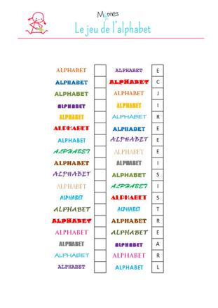 jeu sur l alphabet