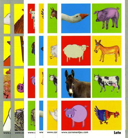 jeu sur les animaux de la ferme