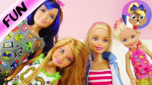 jeux de barbie avec ses soeur