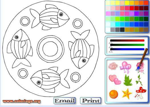 jeux de coloriage de rosace