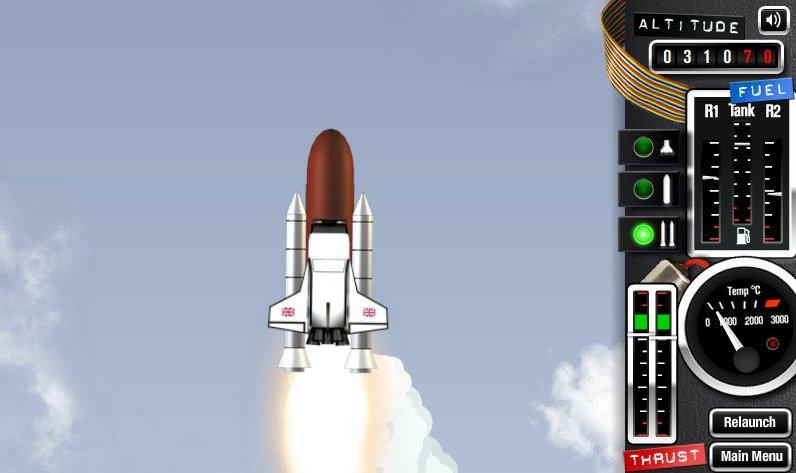 jeux de fusée spatiale