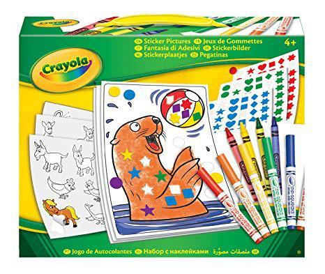 jeux de gommettes crayola