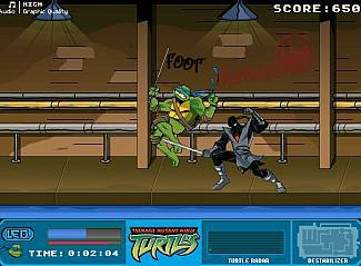 jeux de tortue ninja combat