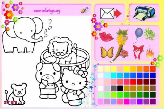 jeux hello kitty coloriage