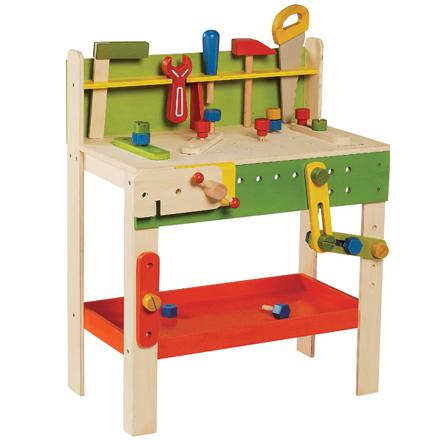 jouet établi en bois
