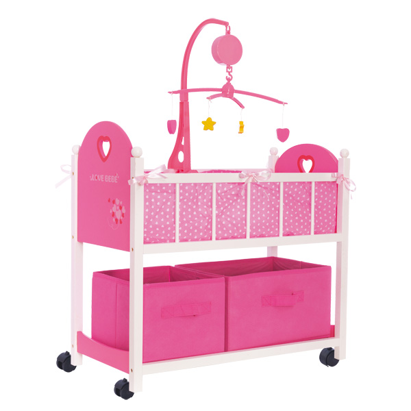 jouet lit bébé en bois