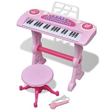 jouet piano avec micro et tabouret