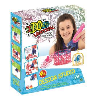 kit créatif vertical design studio 4 tubes créations filles ido3d