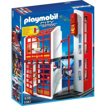la caserne des pompiers playmobil