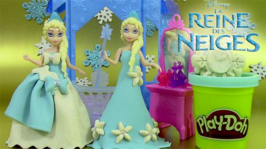 la reine des neige en pâte à modeler
