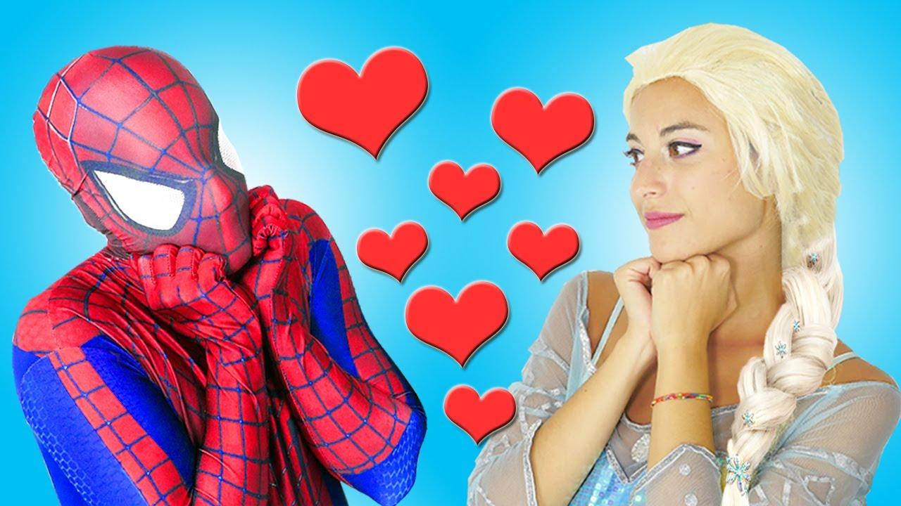 la reine des neiges et spider man