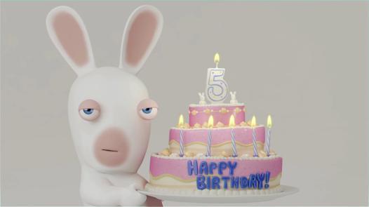 lapin crétin joyeux anniversaire