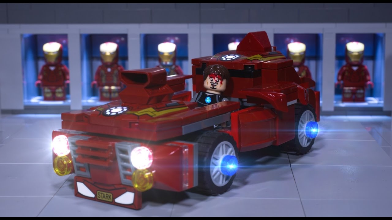 lego iron man car
