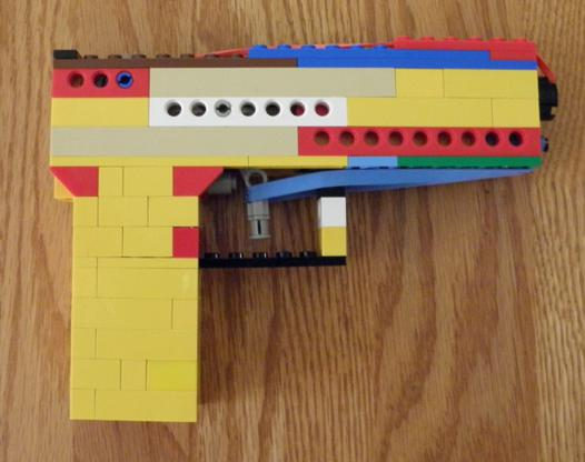 lego pistolet construction