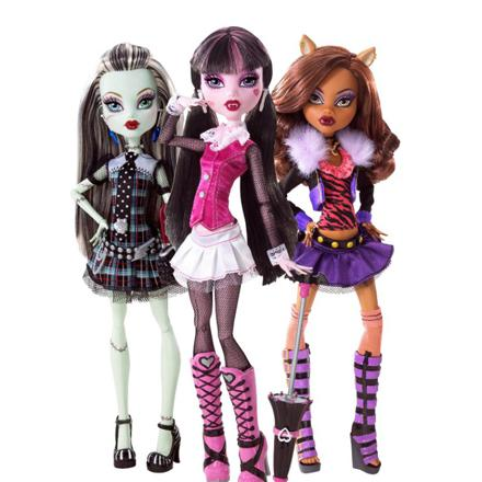 les poupées monster high
