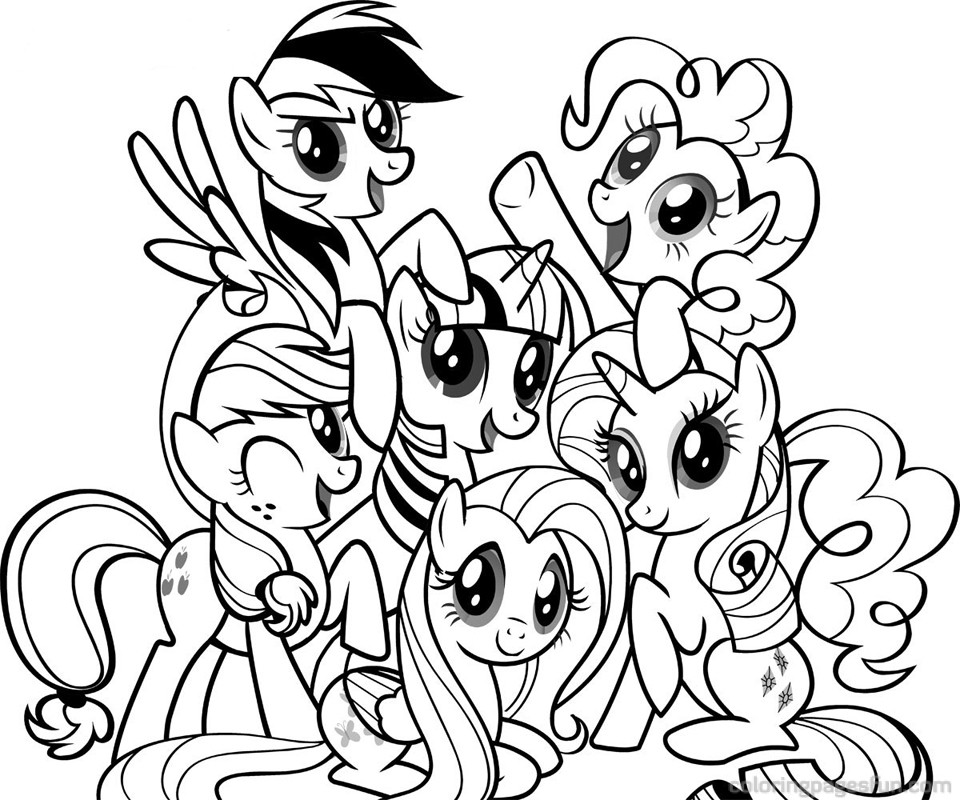 little pony a colorier