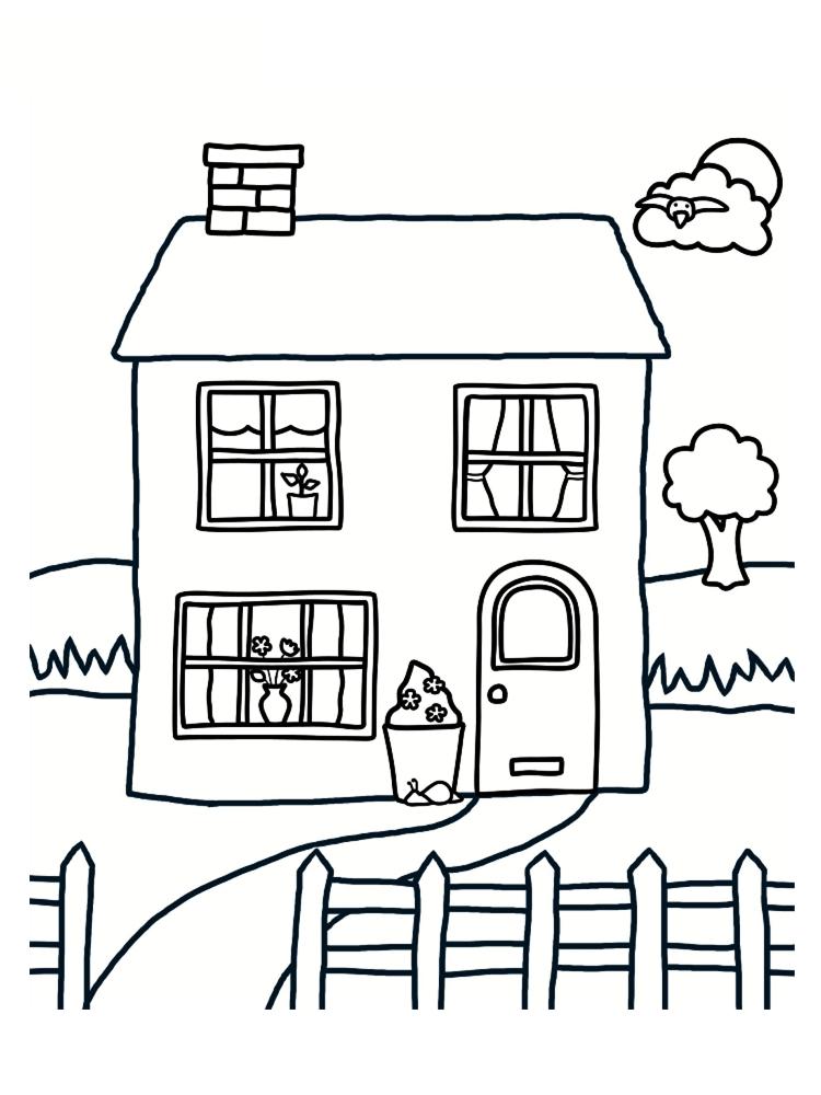 maison à colorier