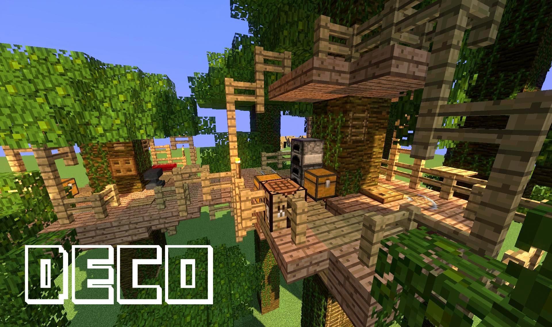 maison dans les arbres minecraft