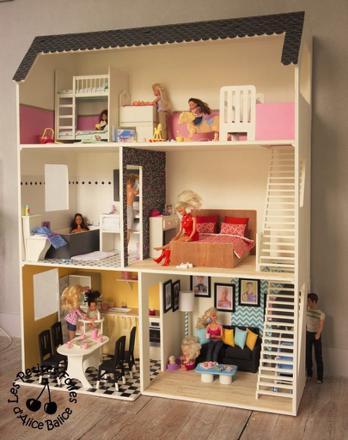 maison de barbie bois