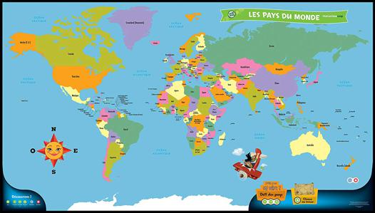 mappemonde interactive