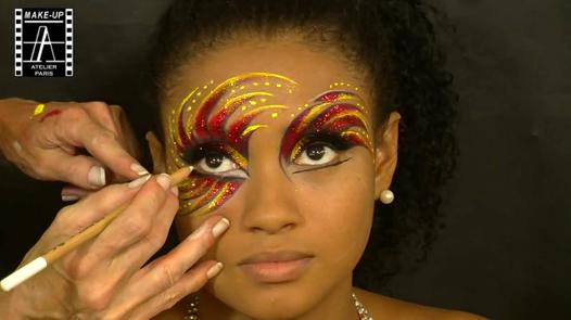 maquillage carnaval bresil