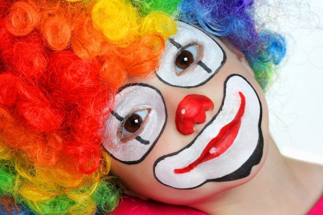 maquillage clown rigolo