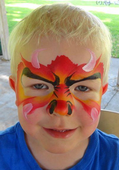 maquillage dragon enfant
