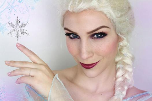 maquillage elsa reine des neiges
