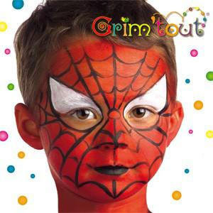 maquillage visage spiderman
