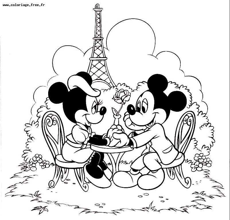mickey minnie coloriage