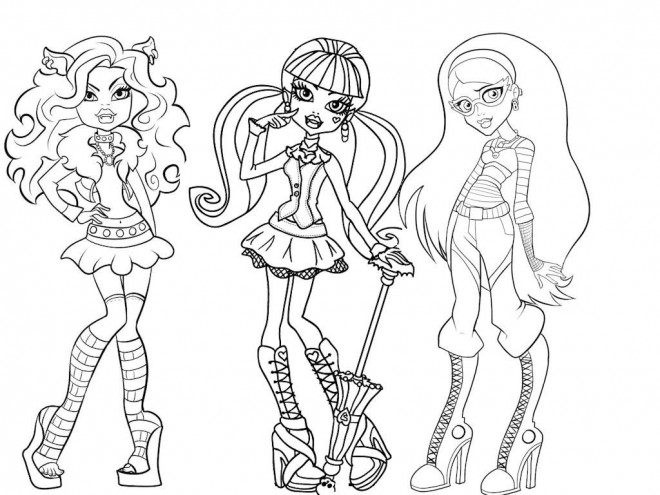monster high facile a dessiner