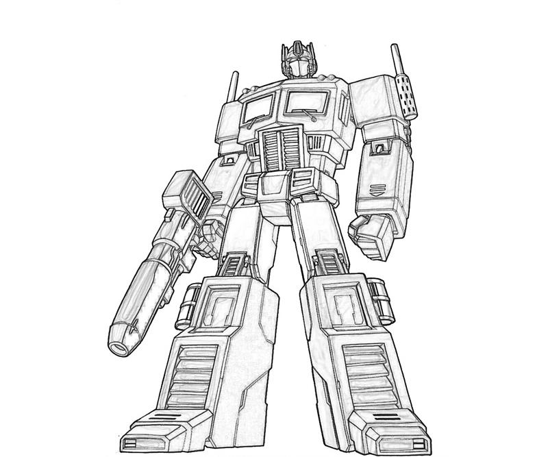 optimus prime coloriage
