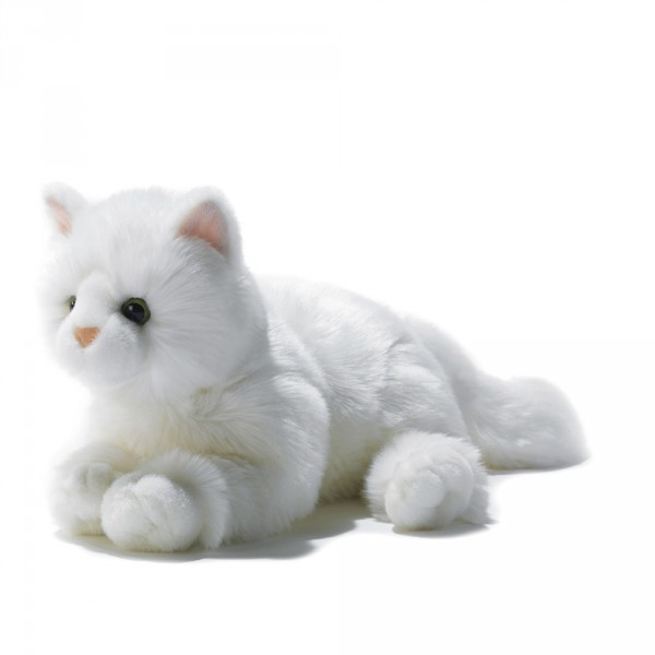 peluche chat blanc
