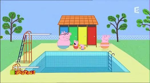 peppa a la piscine