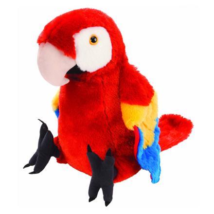 perroquet en peluche