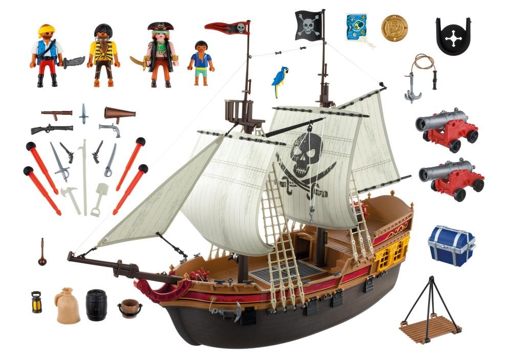 play mobile bateau pirate