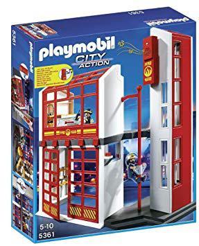 playmobil 4819 jeu de construction caserne de pompiers